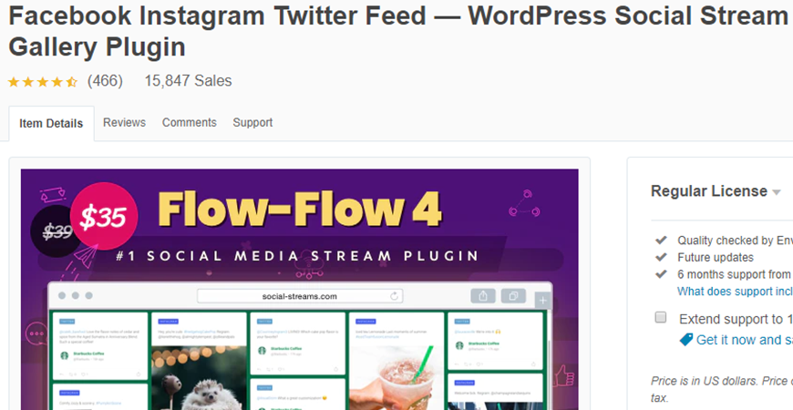Flow Flow Social Stream Premium WordPress Plugin