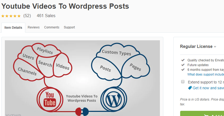Youtube Videos To WordPress Posts Premium WordPress Plugin