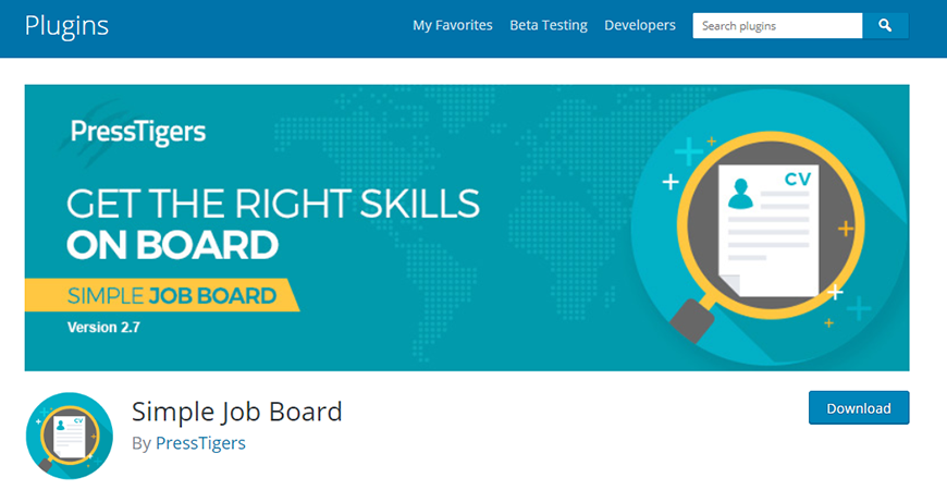 WordPress İş Bulma Eklentileri ve Temaları: Simple Job Board